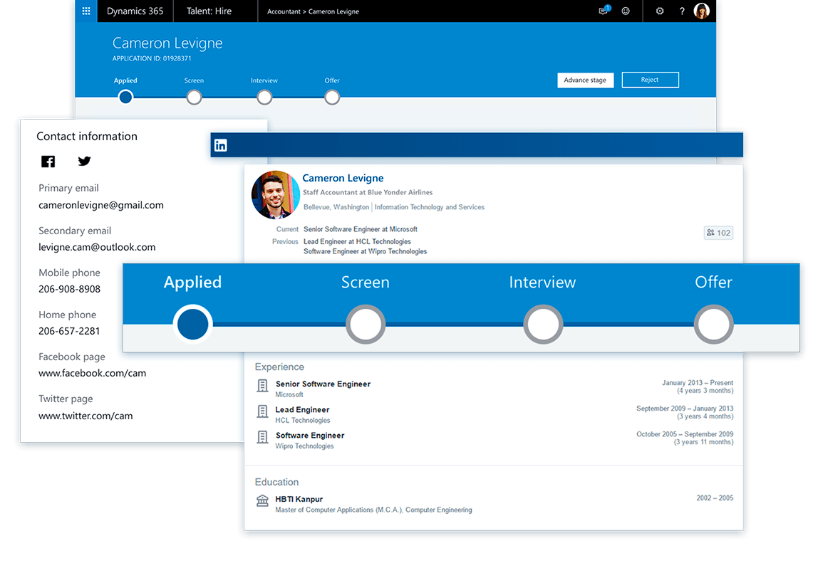 Example dashboard Dynamics 365 for Talent | VanRoey.be
