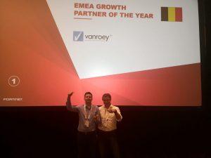 Fortinet EMEA award Partner growth 2018 podium