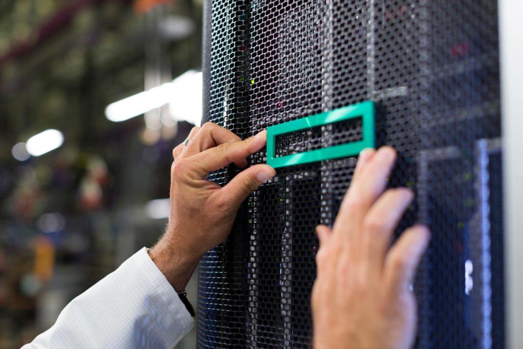 Logo HPE Datacenter Servers Storage Racks   VanRoey.be
