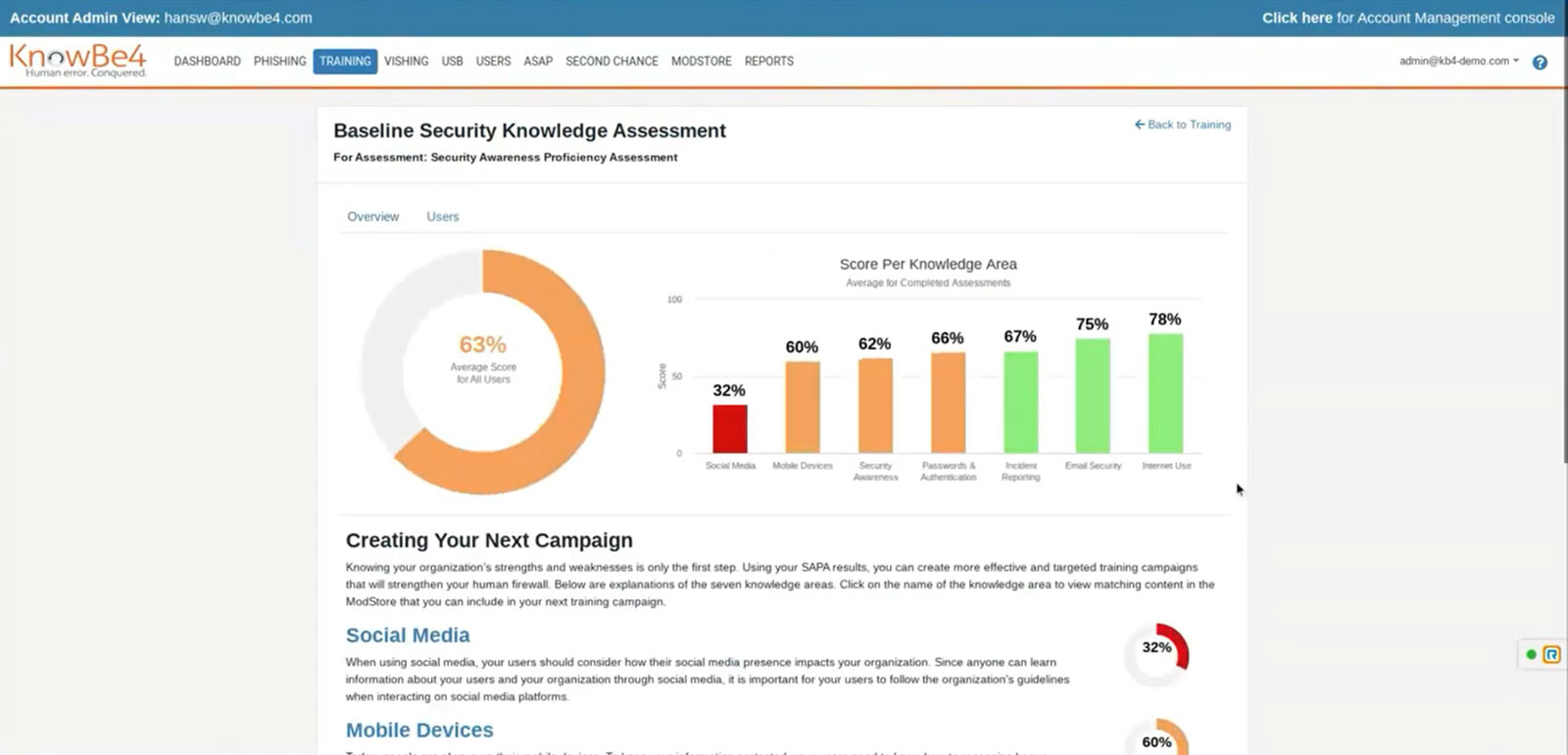 KnowBe4 Security Awareness - Baseline Security Knowledge Assessment | VanRoey.be