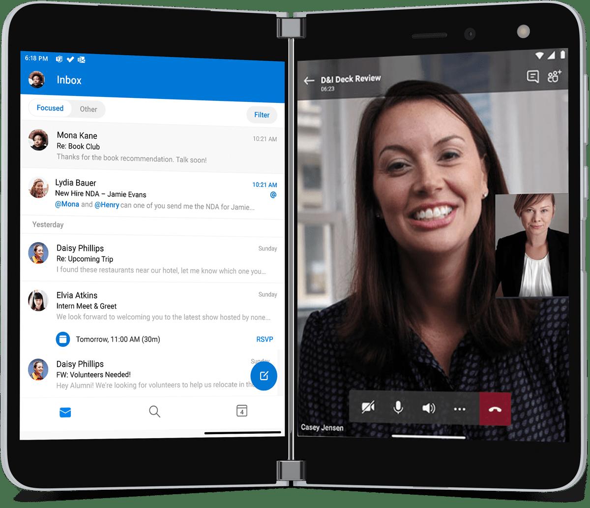 Microsoft Duo Teams Call And Outlook | VanRoey.be