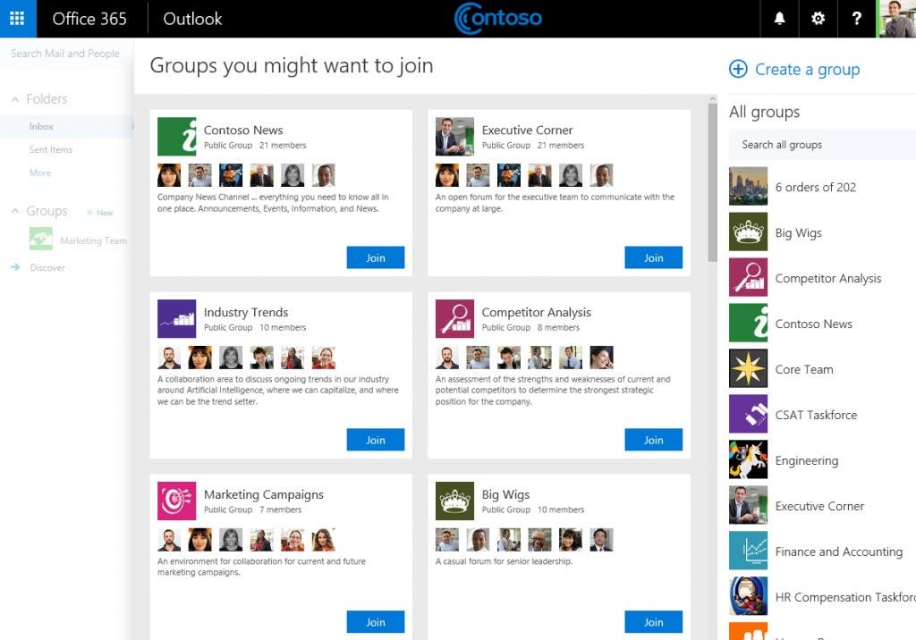 Voorbeeld dashboard Office Groups | VanRoey.be