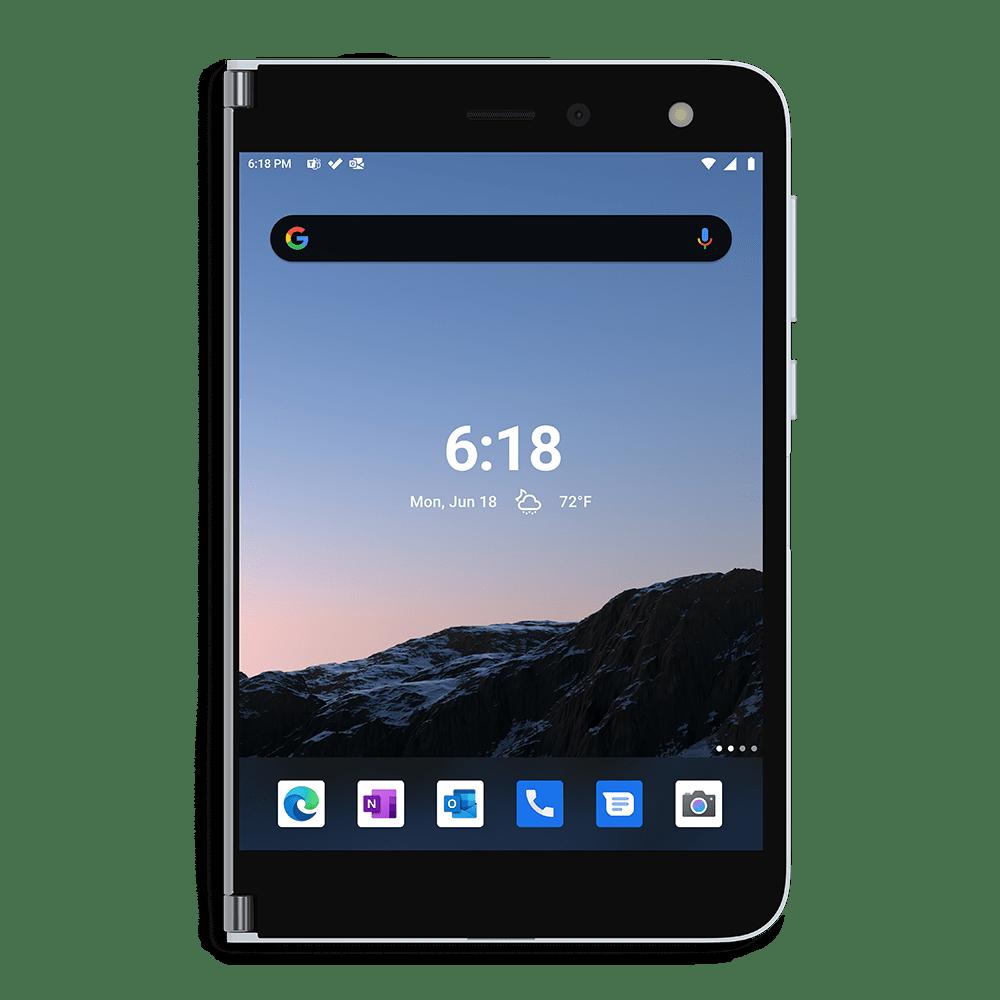 Microsoft Surface Duo Flat Mode | VanRoey.be