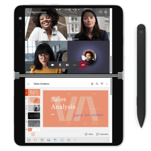 Microsoft Surface Duo Teams and PowerPoint Mode | VanRoey.be