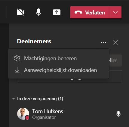 Microsoft Teams - Télécharger la liste des participants
