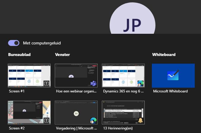 Microsoft Teams - Partage d'écran avec l'audio de l'ordinateur