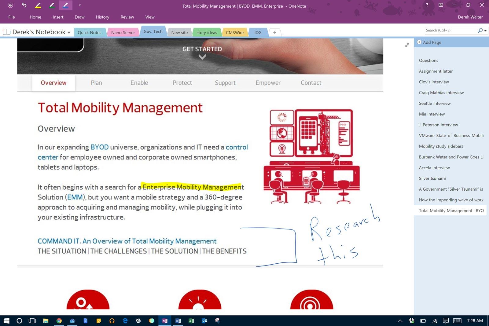 Voorbeeld dashboard Microsoft OneNote | VanRoey.be