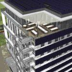 VanRoey.be New Build 3D Design vue latérale panneaux solaires | VanRoey.be