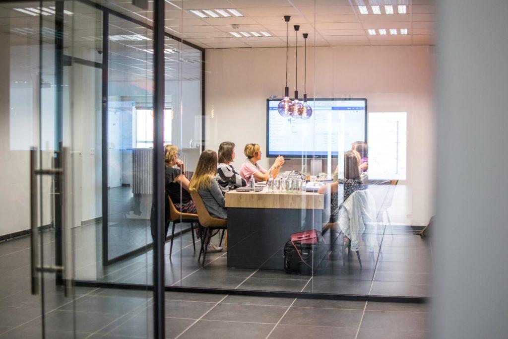 Een HR meeting in het Experience Center