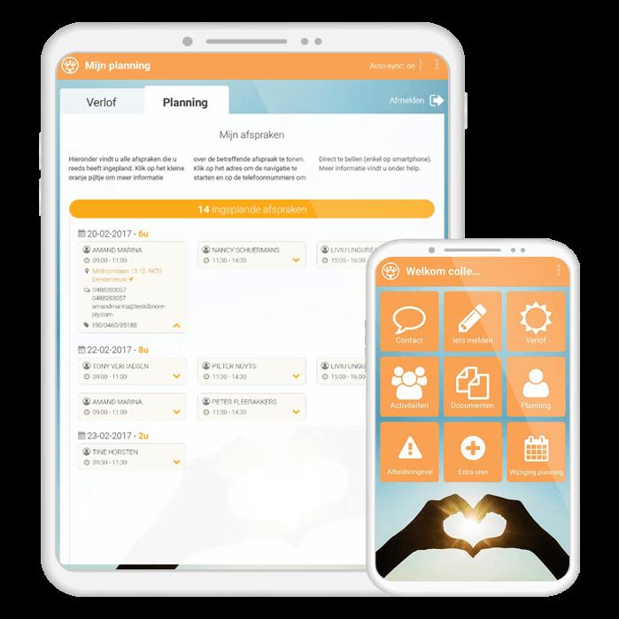 Thuishulp Communication App | VanRoey.be